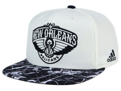 New Orleans Pelicans adidas NBA 2016 White Marble Snapback Cap