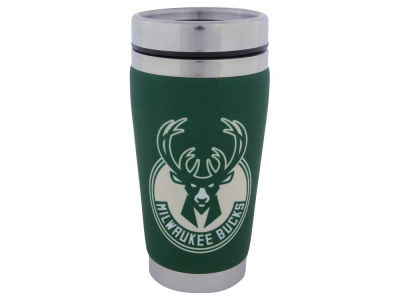 Milwaukee Bucks 16oz Stainless Steel Travel Tumbler