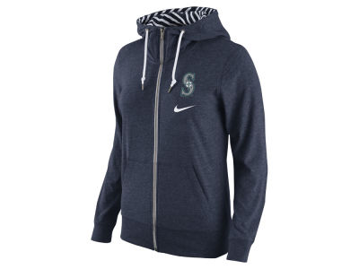 Seattle Mariners Nike MLB Women's Gym Vintage Full Zip Hoodie