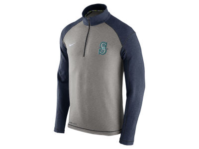 Seattle Mariners Nike MLB Men's Dri-Fit Touch Half Zip Pullover