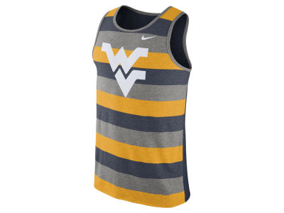 West Virginia Mountaineers Nike NCAA Men's Stadium Team First Striped Tank