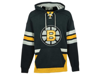 Boston Bruins Reebok NHL Men's Lace Up Pullover Hoodie