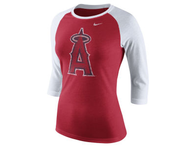Los Angeles Angels Nike MLB Women's Tri Logo Raglan T-Shirt