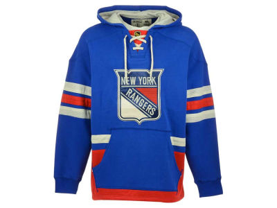 New York Rangers Reebok NHL Men's Lace Up Pullover Hoodie