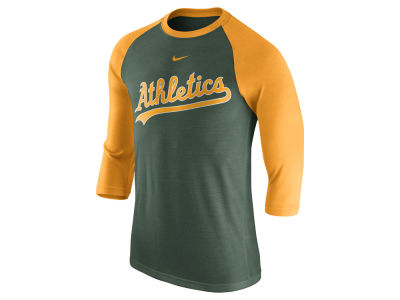 Oakland Athletics Nike MLB Men's Wordmark Raglan T-Shirt