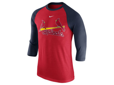 St. Louis Cardinals Nike MLB Men's Wordmark Raglan T-Shirt