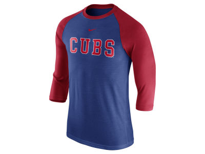 Chicago Cubs Nike MLB Men's Wordmark Raglan T-Shirt