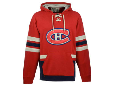 Montreal Canadiens Reebok NHL Men's Lace Up Pullover Hoodie