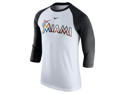 Miami Marlins Nike MLB Men's Wordmark Raglan T-Shirt