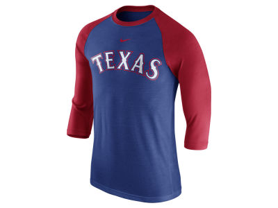 Texas Rangers Nike MLB Men's Wordmark Raglan T-Shirt