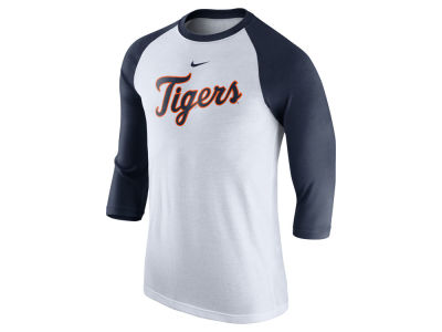 Detroit Tigers Nike MLB Men's Wordmark Raglan T-Shirt