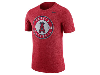 Los Angeles Angels Nike MLB Men's Marled 1.6 T-Shirt
