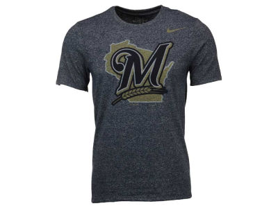 Milwaukee Brewers Nike MLB Men's Marled 1.6 T-Shirt
