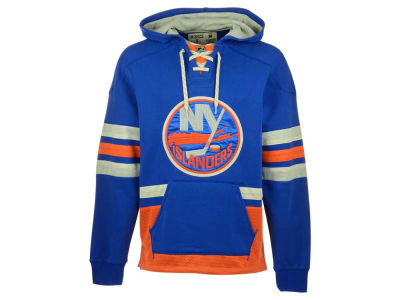 New York Islanders Reebok NHL Men's Lace Up Pullover Hoodie