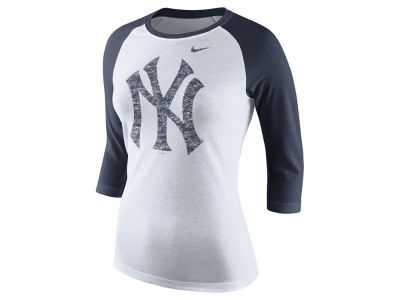 New York Yankees Nike MLB Women's Tri Logo Raglan T-Shirt