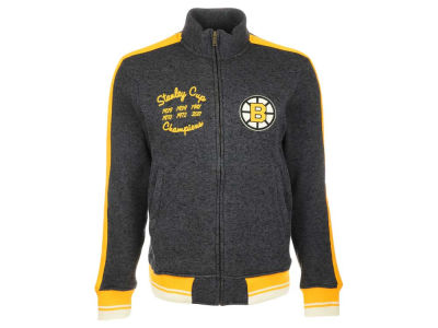 Boston Bruins Reebok NHL Men's CCM Full Zip Jacket