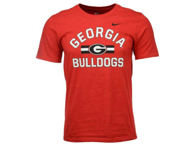 Georgia Bulldogs Nike NCAA Men's Stadium Team First Cotton Stripe T-Shirt