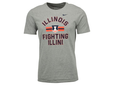 Illinois Fighting Illini Nike NCAA Men's Stadium Team First Cotton Stripe T-Shirt
