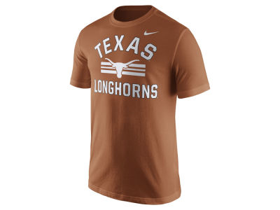 Texas Longhorns Nike NCAA Men's Stadium Team First Cotton Stripe T-Shirt
