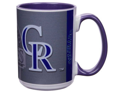 Colorado Rockies 15oz Super Fan Inner Color Mug