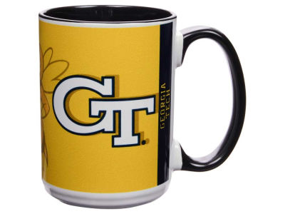 Georgia-Tech 15oz Super Fan Inner Color Mug