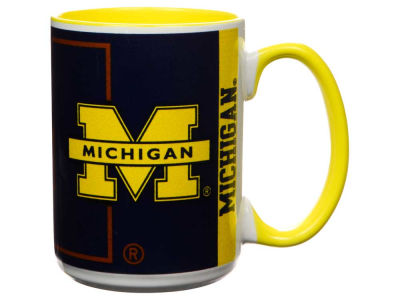 Michigan Wolverines 15oz Super Fan Inner Color Mug