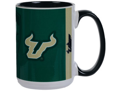 South Florida Bulls 15oz Super Fan Inner Color Mug