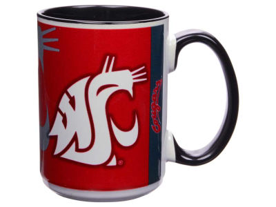 Washington State Cougars 15oz Super Fan Inner Color Mug