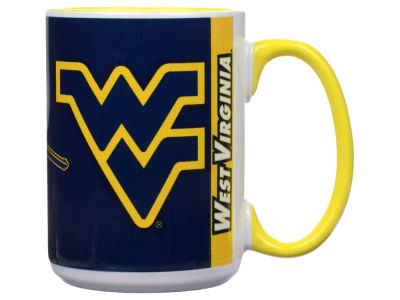 West Virginia Mountaineers 15oz Super Fan Inner Color Mug