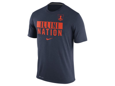 Illinois Fighting Illini Nike NCAA Men's Legend Local Verbiage Crew T-Shirt