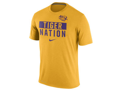 LSU Tigers Nike NCAA Men's Legend Local Verbiage Crew T-Shirt