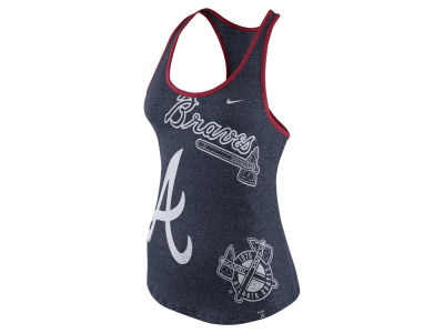 Atlanta Braves Nike MLB Women's Marled Tank