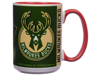 Milwaukee Bucks 15oz Super Fan Inner Color Mug