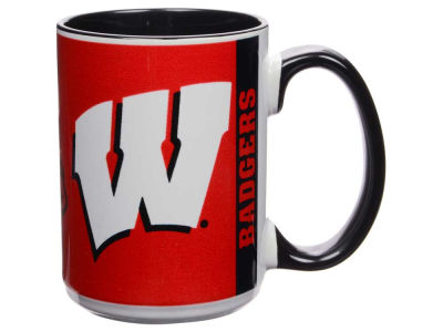 Wisconsin Badgers 15oz Super Fan Inner Color Mug