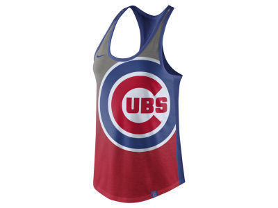 Chicago Cubs Nike MLB Women's Triblend Fade Tank