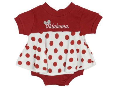 Oklahoma Sooners NCAA Newborn Polka Dot Dress