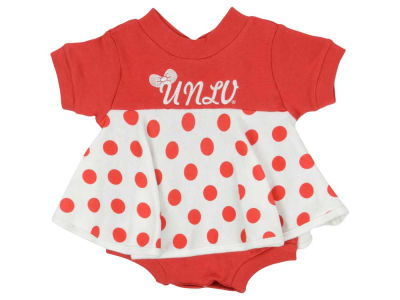 UNLV Runnin Rebels NCAA Newborn Polka Dot Dress