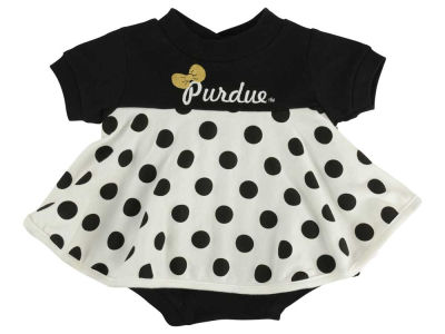 Purdue Boilermakers NCAA Newborn Polka Dot Dress