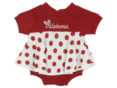 Oklahoma Sooners NCAA Infant Polka Dot Dress