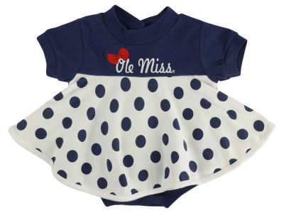 Ole Miss Rebels NCAA Infant Polka Dot Dress