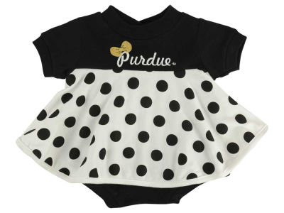 Purdue Boilermakers NCAA Infant Polka Dot Dress