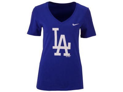 Los Angeles Dodgers Nike MLB Women's V-Neck Logo T-Shirt