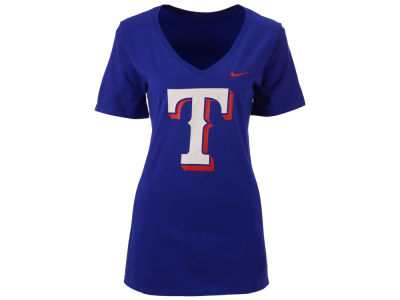 Texas Rangers Nike MLB Women's V-Neck Logo T-Shirt