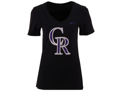 Colorado Rockies Nike MLB Women's V-Neck Logo T-Shirt