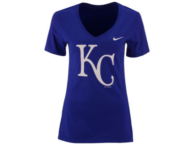 Kansas City Royals Nike MLB Women's V-Neck Logo T-Shirt