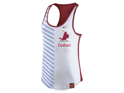 St. Louis Cardinals Nike MLB Women's Coop Striped Tank