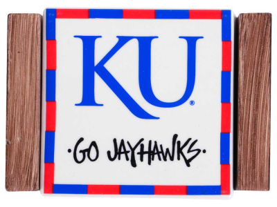 Kansas Jayhawks Ceramic Coaster Set-4 pack