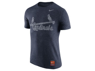 St. Louis Cardinals Nike MLB Men's Cooperstown Tri-Blend Wordmark T-Shirt