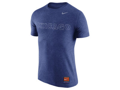 Chicago Cubs Nike MLB Men's Cooperstown Tri-Blend Wordmark T-Shirt