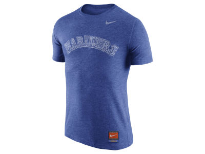 Seattle Mariners Nike MLB Men's Cooperstown Tri-Blend Wordmark T-Shirt